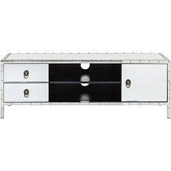 Bílá TV komoda s černými detaily Kare Design Rivet
