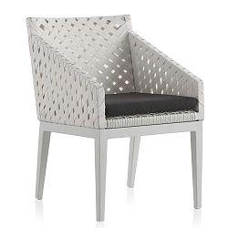 Bílá zahradní židle Geese Ribbon
