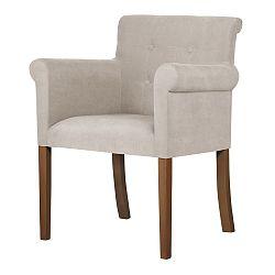 Bílá židle s tmavě hnědými nohami Ted Lapidus Maison Flacon