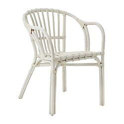 Bílá židle z ratanu Premier Housewares Havana
