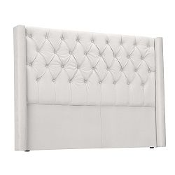 Bílé čelo postele Windsor & Co Sofas Queen, 196 x 120 cm