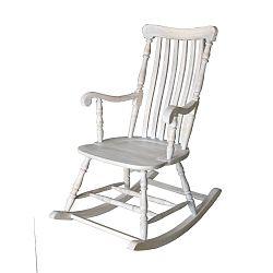 Bílé houpací křeslo z akáciového dřeva Miloo Home Hamptons