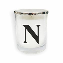 Bílo-černá svíčka North Carolina Scandinavian Home Decors Monogram Glass Candle N