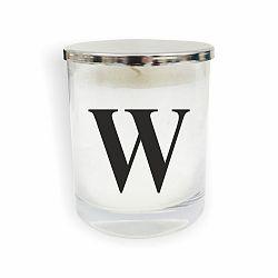 Bílo-černá svíčka North Carolina Scandinavian Home Decors Monogram Glass Candle W