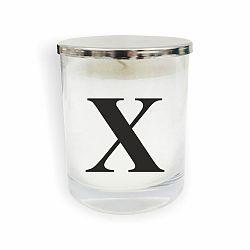 Bílo-černá svíčka North Carolina Scandinavian Home Decors Monogram Glass Candle X