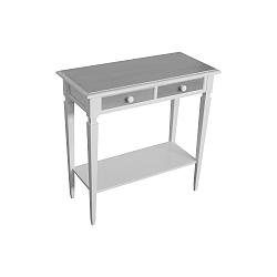 Bílo-šedý konzolový stolek s zásuvkami