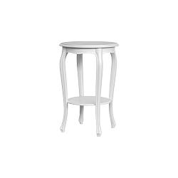 Bílo-šedý odkládací stolek Marianne