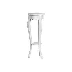 Bílo-šedý odkládací stolek Marianne, ⌀30cm