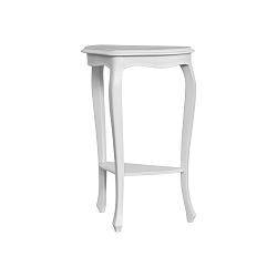 Bílo-šedý odkládací stolek Marianne, výška85cm