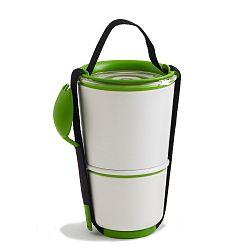 Bílo-zelené svačinové misky Black Blum Lunch Pot