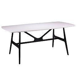 Bílý jídelní stůl s černými nohami sømcasa Gabby,  180x90cm