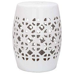 Bílý keramický stolek Safavieh Ravello