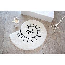 Bílý koberec ve tvaru šneka Alessia, Ø 90 cm