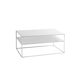 Bílý konferenční patrový stolek Custom Form Tensio, délka100cm