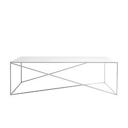 Bílý konferenční stolek Custom Form Memo, šířka140cm