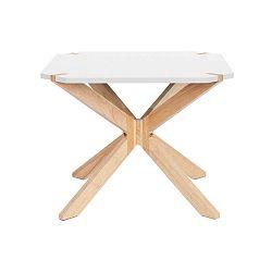 Bílý konferenční stolek Leitmotiv Mister, 65x65cm