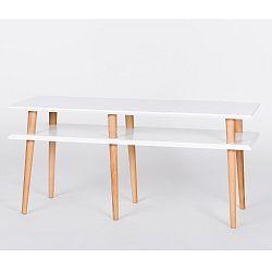 Bílý konferenční stolek Ragaba Mugo,délka119cm