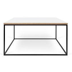 Bílý konferenční stolek s černými nohami TemaHome Gleam, 75 cm