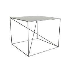Bílý konferenční stolek Take Me HOME Malbork, 55x55cm