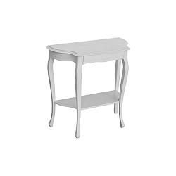 Bílý konzolový stolek se zásuvkou