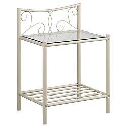 Bílý kovový noční stolek Støraa Isabelle