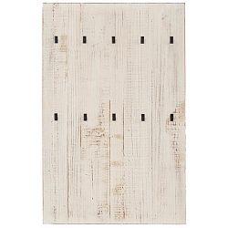 Bílý nástěnný věšák z masivního borovicového dřeva Støraa Santana