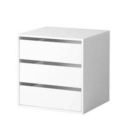 Bílý noční stolek Evergreen House Bed Time