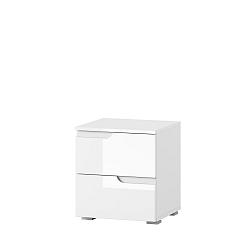 Bílý noční stolek se 2 zásuvkami Szynaka Meble Original