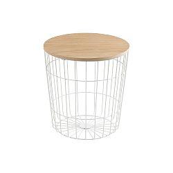 Bílý odkládací stolek Actona Lotus Light, Ø 39 cm