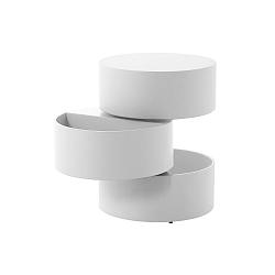 Bílý odkládací stolek Actona Pop, ⌀ 40 cm