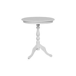 Bílý odkládací stolek Julianne