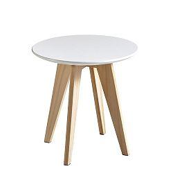 Bílý odkládací stolek Rondo