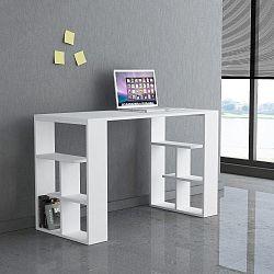 Bílý pracovní stůl Homitis Alexis