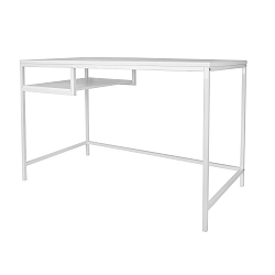 Bílý pracovní stůl Leitmotiv Fushion