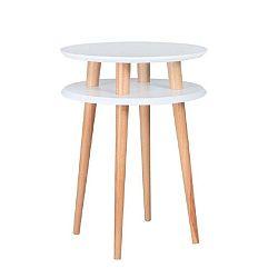 Bílý příruční stolek Ragaba UFO,⌀45 cm