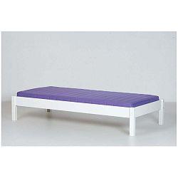 Bílý rám lavice por patrovou postel Manis-h, 90x200cm