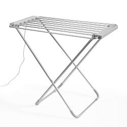 Bílý skládací elektrický sušák na prádlo InnovaGoods Clotheshorse