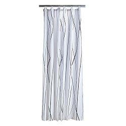 Bílý sprchový závěs s detaily v černé barvě Zone Flow