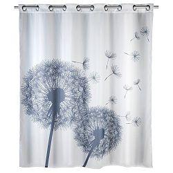 Bílý sprchový závěs s protiplísňovou povrchovou úpravou Wenko Dandelions, 180x200cm