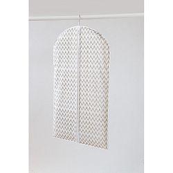 Bílý textilní závěsný obal na šaty Compactor Clear, délka 100cm