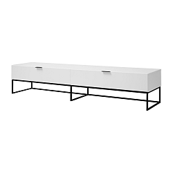 Bílý TV stolek s práškově lakovanou úpravou Interstil Kobe