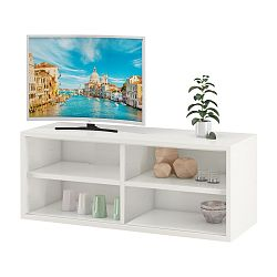 Bílý TV stolek se 2 poličkami Støraa Bertil