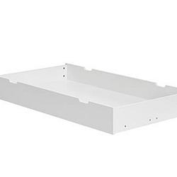 Bílý úložný prostor pod dětskou postýlku Pinio Calmo,140x70cm