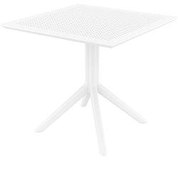 Bílý zahradní jídelní stůl Resol Sky, 80 x 80 cm