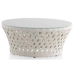 Bílý zahradní konferenční stolek Geese Ribbon, ⌀80cm