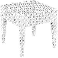 Bílý zahradní odkládací stůl Resol Ipanema, 45 x 45 cm
