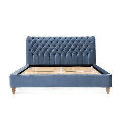 Blankytně modrá postel z bukového dřeva Vivonita Allon, 180 x 200 cm
