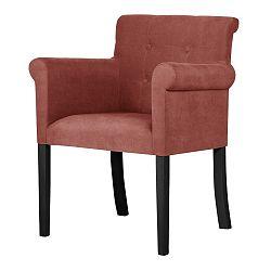 Broskově oranžová židle s černými nohami Ted Lapidus Maison Flacon