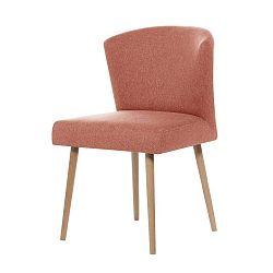 Broskvově oranžová jídelní židle Rodier Richter