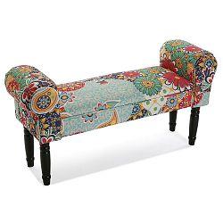 Čalouněná lavice s černými nohami Versa Giardino
